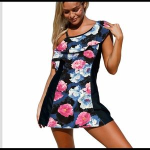Other - Floral Print Swimdress With Shorts NWT